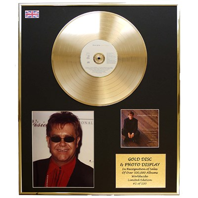 Elton John - Love Songs Framed CD on Gold Disc Display - Limited Edition of 100