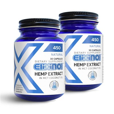 Elixinol CBD Hemp Oil 60 Capsules 900mg (2 x 30 caps)