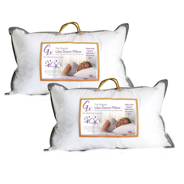GX Like Down Pillow (Twin Pack) No Colour
