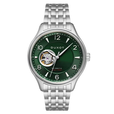 Duxot Gent's Patrios Automatic Open Heart Watch with Stainless Steel Bracelet