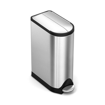 Simple Human Butterfly Pedal Bin, 18L Single Compartment, Stainless Steel