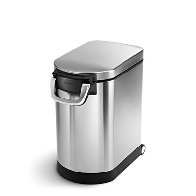 Simple Human Pet Food Bin, 25L Single Compartment, Stainless Steel