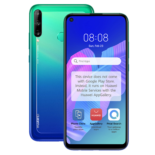 HUAWEI P40 lite E - 6.39inch Display, 48MP Main Camera, 4GB RAM and 64GB Storage Blue