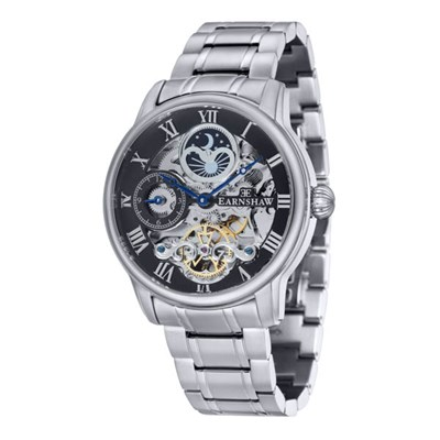 Thomas Earnshaw Gents' Longitude Skeleton Automatic Watch with Stainless Steel Bracelet