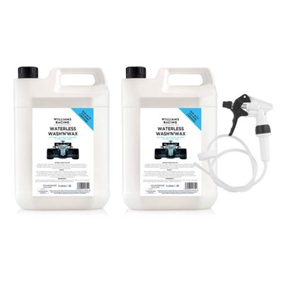 Williams Waterless Wash and Wax,  5L Can with Long Hose Trigger (Pack of 2)