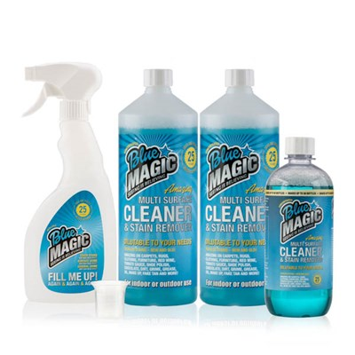 Blue Magic 2 x 1L, 1 x 500ml Cleaning Concentrate with 1 x Empty Spray Bottle
