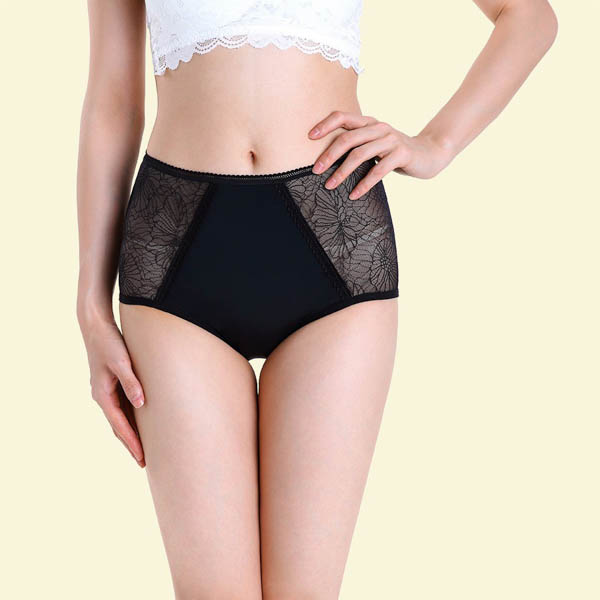 Cheeky Pants Feeling Fearless High-Waisted Pants with 5 Layer Absorbency Black