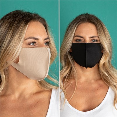 Pack of 2 Plain Face Coverings