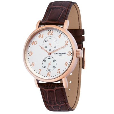 Thomas Earnshaw Gents Grand Legacy Watch with Genuine Leather Strap and Gift