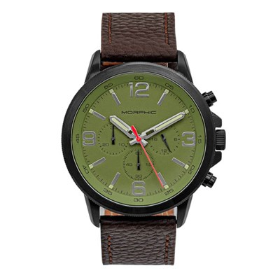 Morphic Gents M86 Series Watch on Genuine Leather Strap