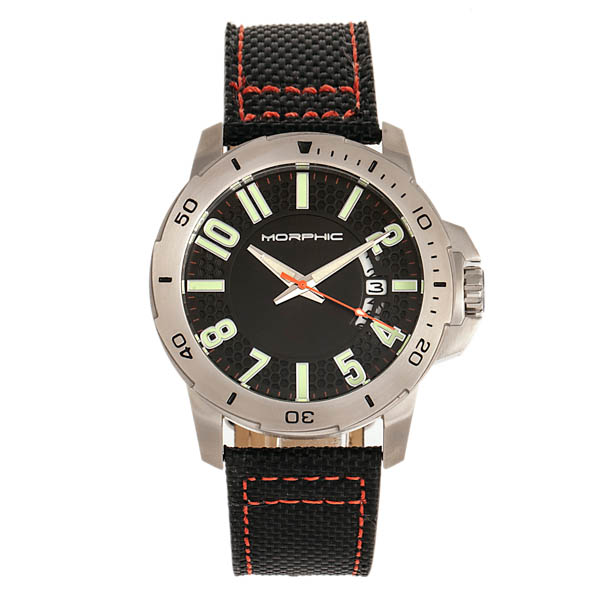 Morphic Gents M70 Series Watch on Genuine Leather Strap Black