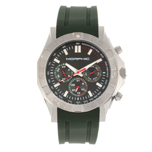 Morphic Gents M75 Series Watch on Silicone Strap Green