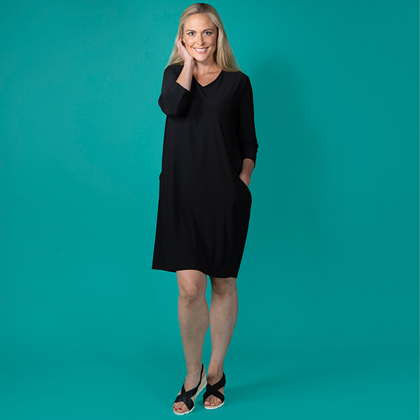 Nicole Pocket Dress Black