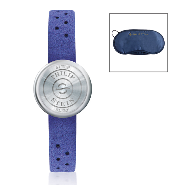 Philip Stein Blue Nano Sleep Bracelet with a Blue Suede Strap - Unisex No Colour