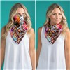 Kasara 2 in 1 Satin Face Scarf
