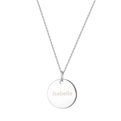 Sterling Silver Personalised Disc Necklace, Mylee London by The Carat Shop