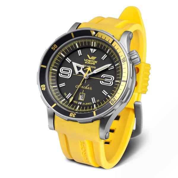 Vostok Europe Anchar Automatic Dive Watch on Silicone Strap Yellow