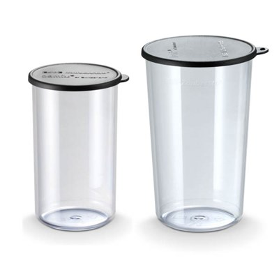 Bamix Beaker Set inc. 400ml and 600ml with Lids
