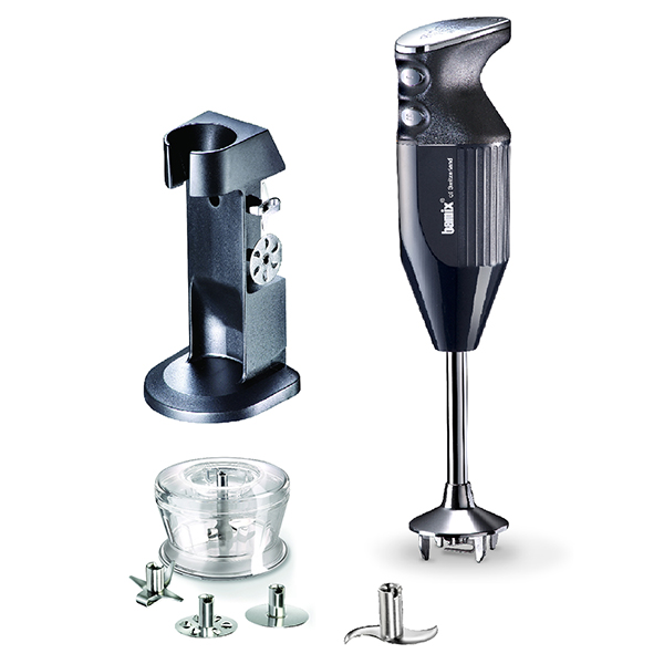 Bamix Deluxe with 4 Blades inc. Multipurpose, Whisk, Beater and Meat, Dry Grinder and Stand