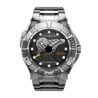 Nubeo Gents Ltd Ed Manta Birostris Watch with Stainless Steel Bracelet