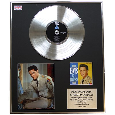 Elvis Presley GI Blues Framed and Mounted CD on Platinum Disc Limited Edition of 100 Only