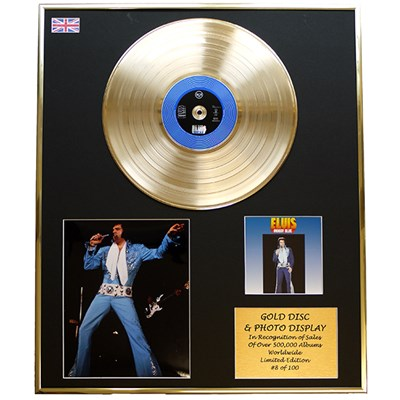 Elvis Presley - Moody Blue Framed and Mounted CD on Gold Disc Limited Edition