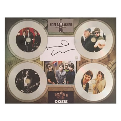 Oasis - Framed 4 x CD Montage Display Personally Signed by Noel Gallagher