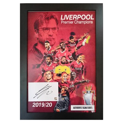 Liverpool FC Framed Premiership Champions 2019/20 Photo and Jurgen Klopp Signature