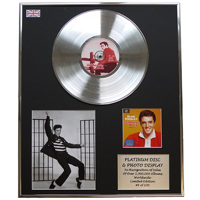 Elvis Presley - Jailhouse Rock Framed and Mounted CD on Platinum Disc Limited Edition of 100 Only