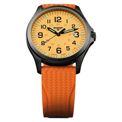 Traser Gents Swiss Made P67 Officer Gun Watch with Silicone Strap