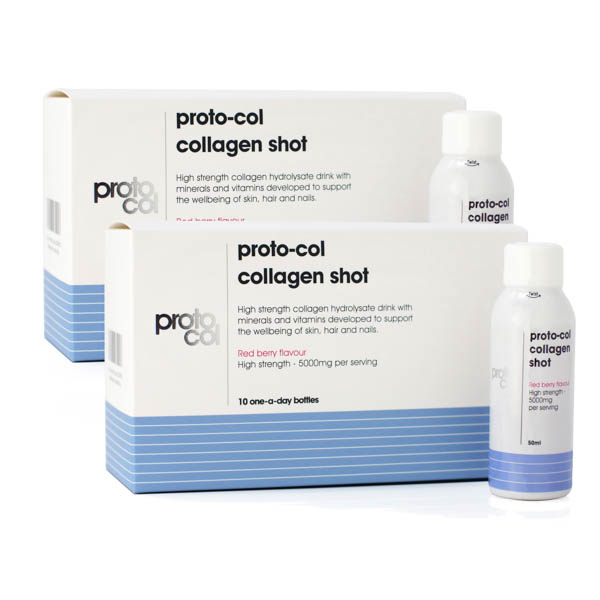 Image of Proto-col Twinpack Collagen Shots (2 x 10 Collagen Red Berry Flavour Shot 50ml)