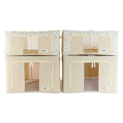 Organizeme Set of 4 Pop Up Bins - 2 Medium and 2 Large