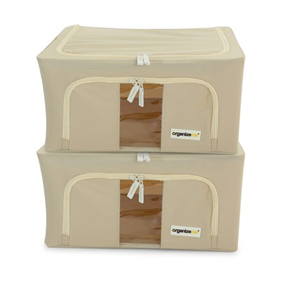 Organizeme Set of 2 Small Pop Up Fashion Bins