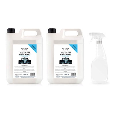 Ultimotive Williams Racing Waterless Wash & Wax 2x 5L Bottles with 1x 750ml Empty Bottle and Trigger