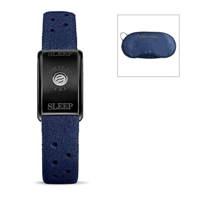 Philip Stein Classic Sleep Bracelet Black Plated Case + Free Eye Mask