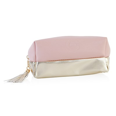 Elizabeth Grant Cosmetic Bag - Pink and Gold