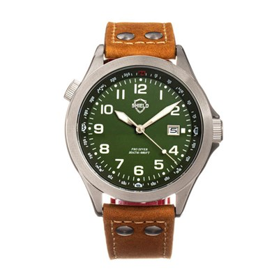 Shield Gents Palau Watch with Genuine Leather Strap