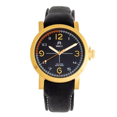 Shield Gents Berge Watch with Genuine Leather Strap
