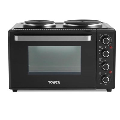 Tower Mini Oven with Built in Hot Plates T14044