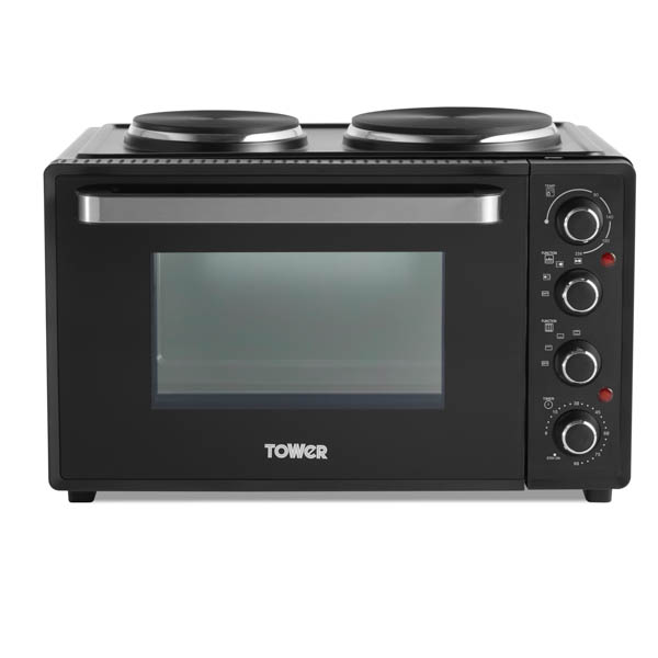 Tower Mini Oven with Built in Hot Plates T14044 No Colour