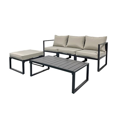 5 Piece Aluminium Frame Furniture Set with Seating and Table