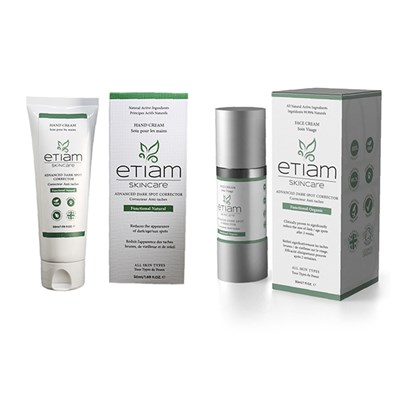 Etiam Skincare Advanced Dark Spot Corrector Face Cream and Hand Cream
