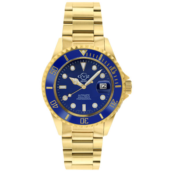 GV2 Gents Ltd Ed Liguria Swiss Automatic Ruben and Sons MD3G Watch, Stainless Steel Bracelet Blue