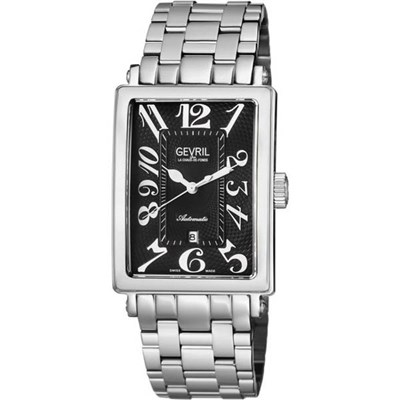 Gevril Ltd Ed Avenue of Americas Swiss Automatic Ruben and Sons Watch, Stainless Steel Bracelet