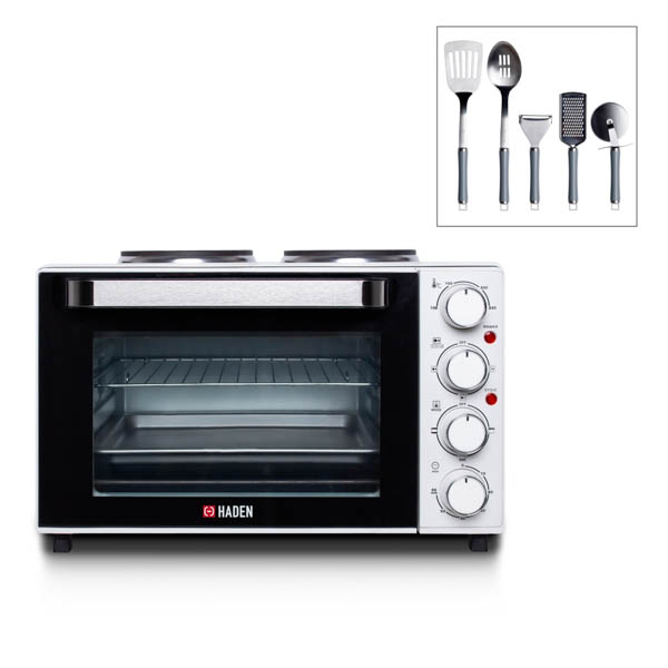 Haden Mini Oven with 5-Piece Utensil Set No Colour