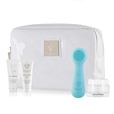 Crystal Clear Ionic SONIC2 Microderm Kit with Super Cleanse Device, Cleansing Gel, Crystal Polish and Skin Repair