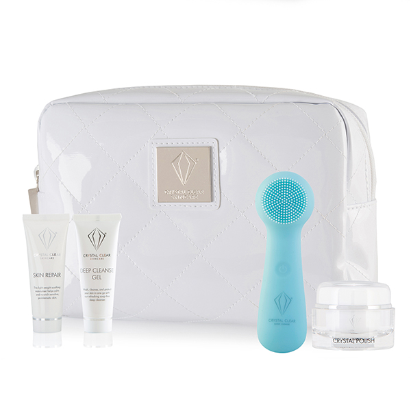 Crystal Clear Ionic SONIC2 Microderm Kit with Super Cleanse Device, Cleansing Gel, Crystal Polish and Skin Repair No Colour