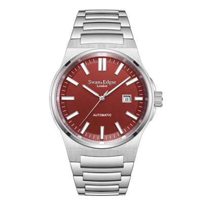 Swan and Edgar Gents Ltd Ed Elegance Automatic Watch with Stainless Steel Bracelet