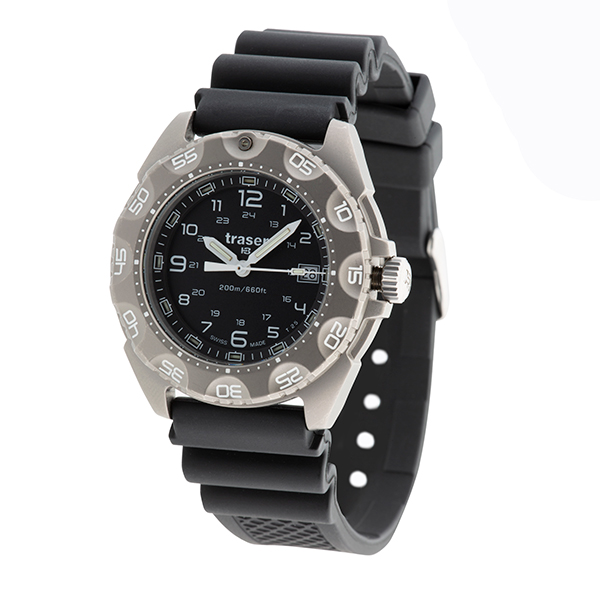 Image of Traser Gents Swiss Made Titanium P49 Swiss Ronda Special Force 100 Watch on Silicone Strap with Extra Strap