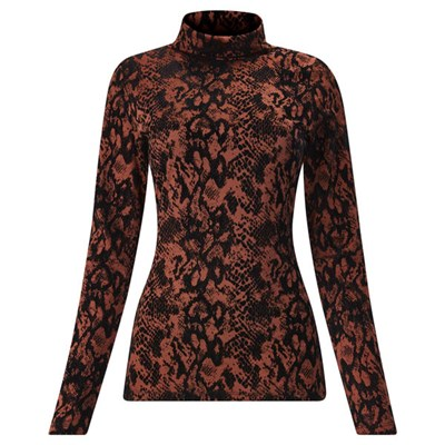 Joe Browns Flocked Animal Roll Neck Top